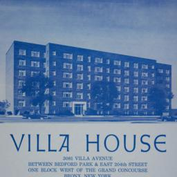 Villa House, 3081 Villa Avenue