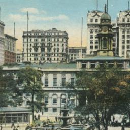 City Hall and Park, New Yor...