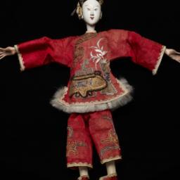 Chinese Female Figurine Wit...
