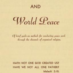 Religion and World Peace. C...