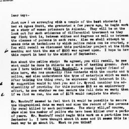 Letter from Arthur Raper to...