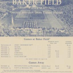 Football ticket sales brochure