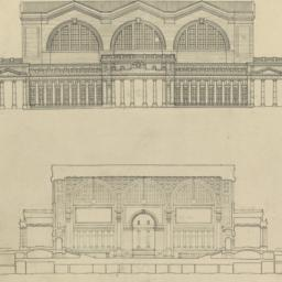 [Elevation and transverse s...