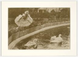Anna Pavlova in Costume Beside a Lake in England