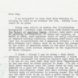 Letter from Bergen Evans to...