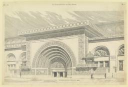 112. Main entrance, Transportation Bldg. The World's Columbian Exposition, 1893. Adler and Sullivan, Architects