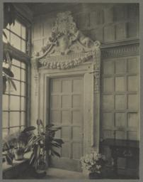 Conservatory, off of dining room, detail of door into butler's pantry