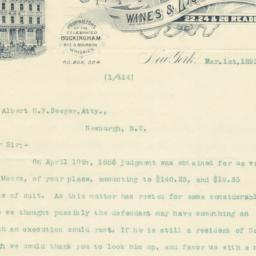 Venable & Heyman, letter