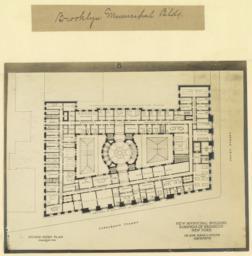B. Second story plan. New Municipal Building, Borough of Brooklyn, New York. McKim, Mead & White, Architects