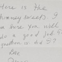 Letter from Isaac B. Singer...
