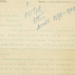 Letter from Reuben Archer T...