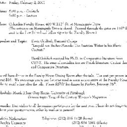 Announcements, 2001-02-02. ...