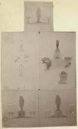 Bennett Park. [Perspective and elevations of owl monument]