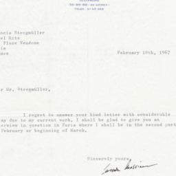 Letter from Leonide Massine...