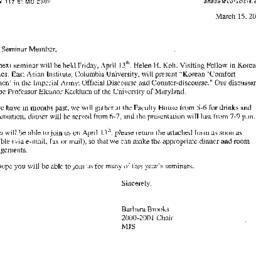 Announcements, 2001-04-13. ...