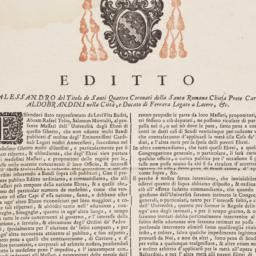 Editto Alessandro del Titol...