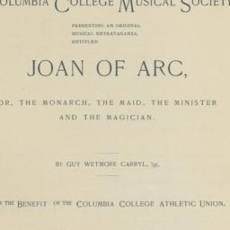"""Program for """"Joan Of Arc, O..."""