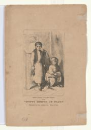"""Dotty Dimple and the Jewess, from """"Dotty Dimple at Play,"""" published by Lee & Shepard, Boston (verso)"""