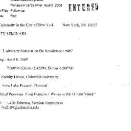 Announcements, 2008-04-08. ...