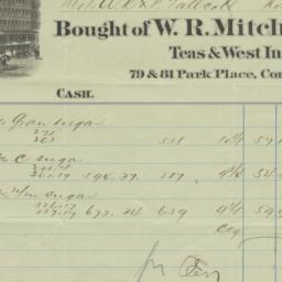 W.R. Mitchell & Co. Bill or...