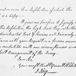 Document, 1779 February 05