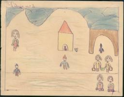 This drawing shows all the people already arrived in Cerbère.