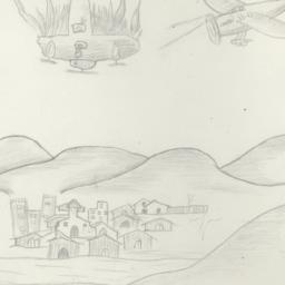 Airplane Combat Over A Smal...