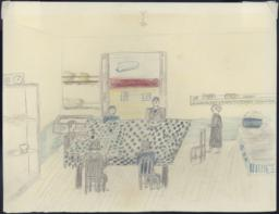 Here I Have Drawn My Mother And I Having Lunch With A Family We Know.