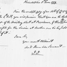Document, 1779 June 08