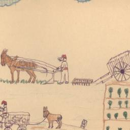 This Drawing Shows Farmers ...