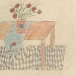 Table With Flowers.