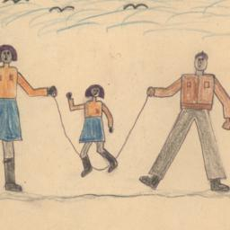 This Drawing Shows 3 Childr...
