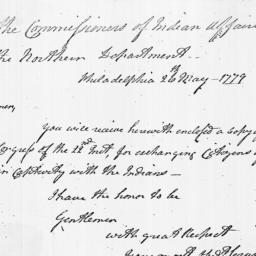 Document, 1779 May 26