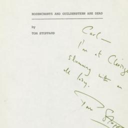 Rosencrantz and Guildenster...