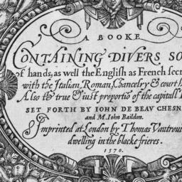 A     Booke Containing Dive...