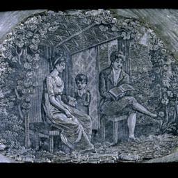 Wood engraving of garden-ho...