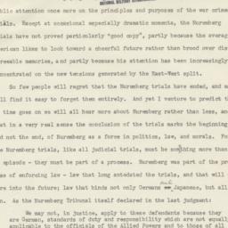 Statement on Nuremberg Tria...
