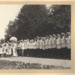 Czar Nicholas II with his f...