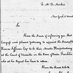Document, 1785 March 11