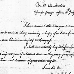 Document, 1785 July 18