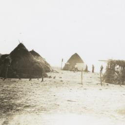 Indian Wickiups near Fort A...