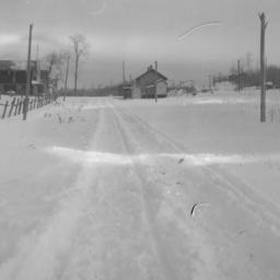 Winter View of Orr, Minnesota