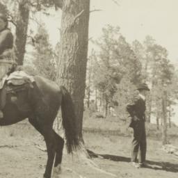 Mescalero Indian on a Horse...