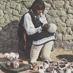 Woman of Isleta Decorating ...