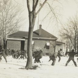 Large Group Snow Ball Fight...