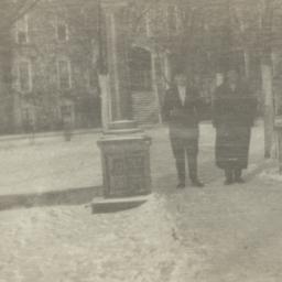 Two Men on  Walkway