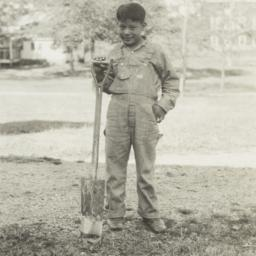 American Indian Boy with Sh...