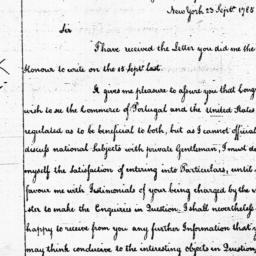 Document, 1785 September 23