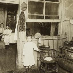 Little Girl Near Stove, Fam...