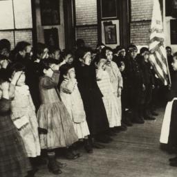 Saluting the Flag in Mott S...